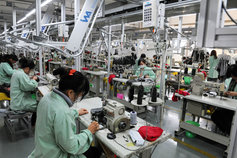 Workers in a garment factory