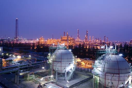 gas storage petrochemicals plant