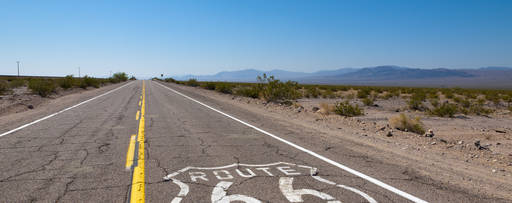 KPMG IFRS US GAAP comparison publication image: US highway route 66 in a desert