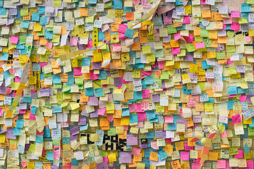 Colourful post-its