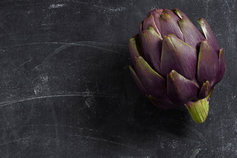 artichoke on blackboard
