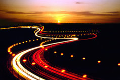 lighted highway