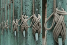 Multiple ropes tied