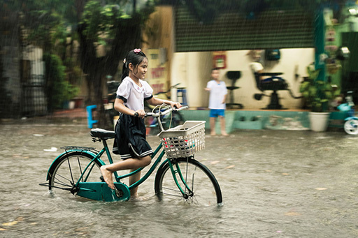 Girl Bycicle