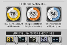 CEO outlook infographic