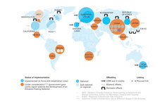 emission carbon trading map