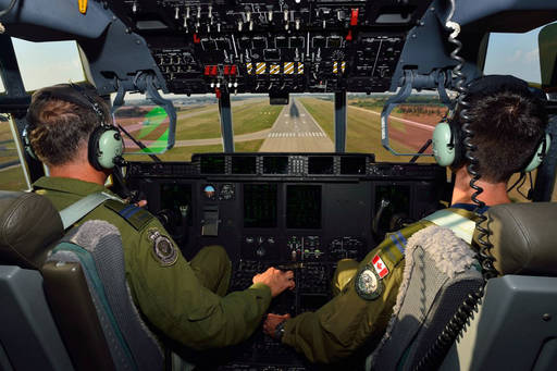 Officers in the cockpit