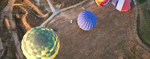 Top view of parachute
