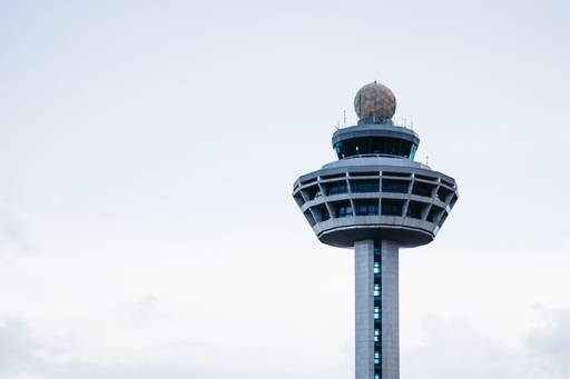 Low Angle View Of Changi Airport Control Tower Against Sky