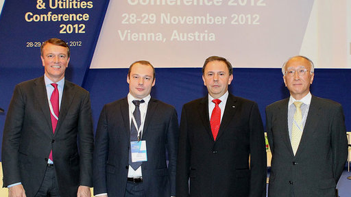 Michiel Soeting, Denis Fedorov, Peter Kiss, Nobuo Tanaka, KPMG Global Power Utilities Conference 2012
