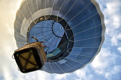 Close view of a parachute