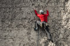 KPMG IFRS Disclosures topic image for draft practice statement on materiality: Climber on a rock face.