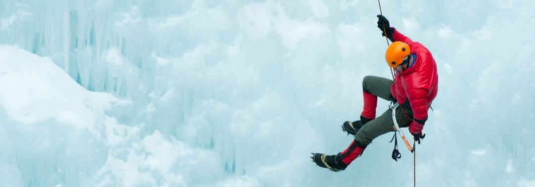 KPMG's Global IFRS Institute | Article image for Proposed amendments to IFRS 4 Insurance Contracts | Abseiler rappelling down an ice wall