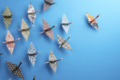 group-of-origami-birds