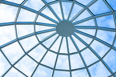 Round glass roof