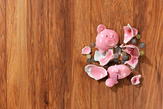 Protecting DB pension schemes: is it working? - image of broken piggy bank