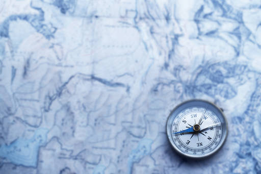 compass-on-map