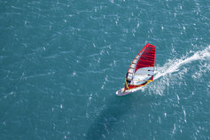 Windsurfer high angle