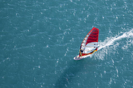 Financial instruments | High angle image of a windsurfer on the open