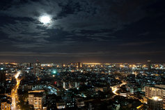 cityscape in night