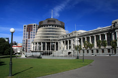 New Zealand Beehive Parliament