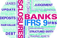 KPMG Guides to annual IFRS financial statements for banks 2014 publication image: financial statement and disclosure word cloud