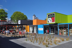 Christchurch rebuild, container shops, NZ