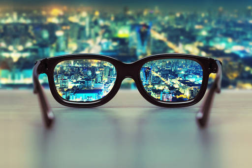 city beyond glasses