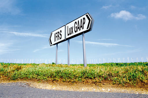 Lux gaap ifrs road sign