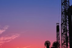 oilfield equipment sunset
