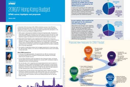 2016/17 Hong Kong Budget: KPMG Survey Highlights and Proposals