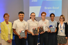 Brain Bowl winning team 2015