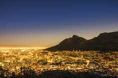 Cape Town, South Africa at night