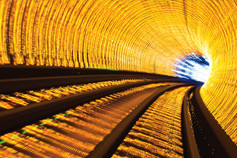 illuminated-train-tunnel-yellow