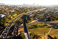 Aerial view Brisbane city