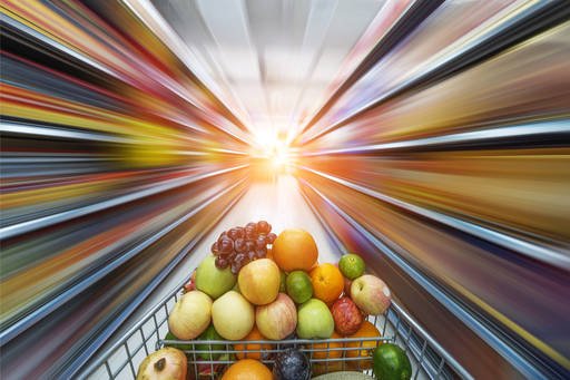 fruits in the cart