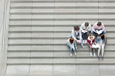 students-on-stairs