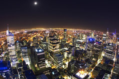 city in Australia at night