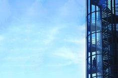 IFRS 16 interactive digital learning - building with stairs and blue clear sky