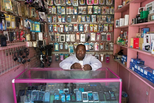 African mobile shopkeeper