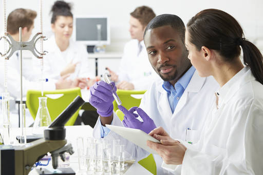 A group of scientists in a lab