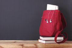 red-bag-on-books