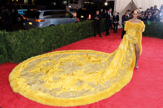 Designer gown on red carpet