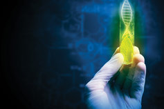 Hand holding DNA tube