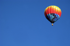 Blue sky, hot air balloon