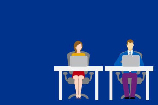 Employers' Club, Illustration of people on a table
