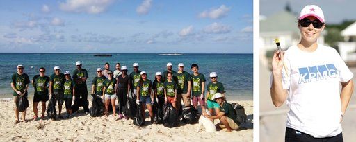 KPMG Cayman staff volunteering