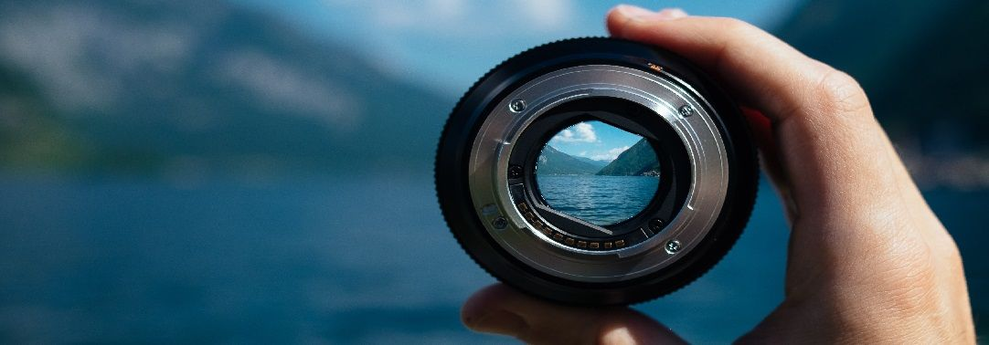 Looking through a camera lens