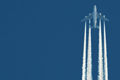 Plane leaving vapour trail