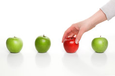 choose a red apple